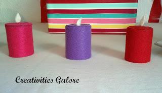 felt candles