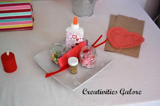Valentine's Craft Party: craft supplies