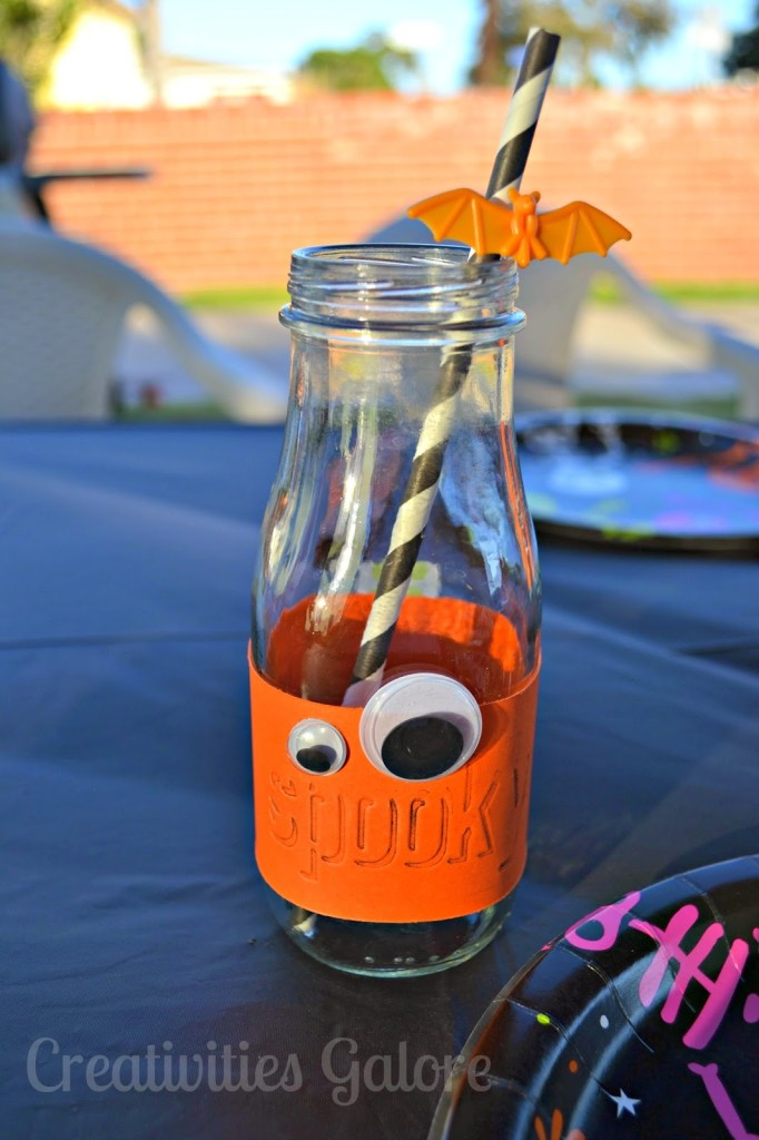 Creativities Galore: Spooky Milk Bottle