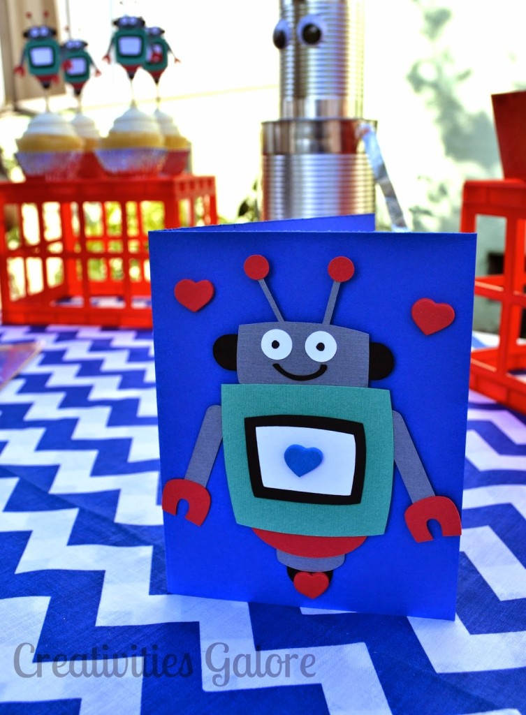 Creativities Galore: Robot Valentine's Party
