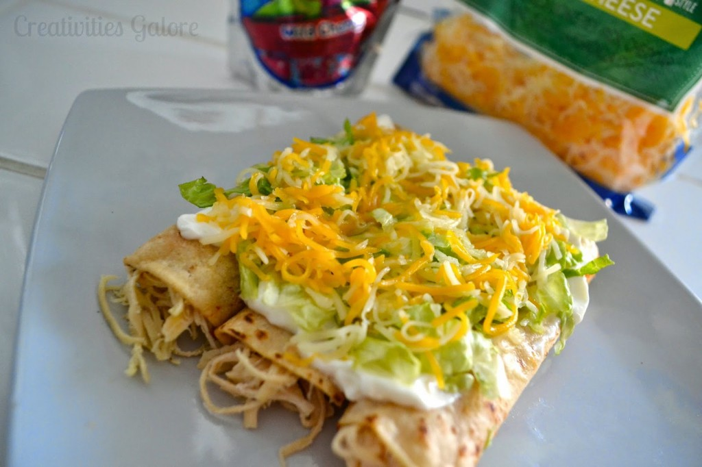 Cheesy Chicken Taquitos by Creativities Galore #PinThatTwist #ad