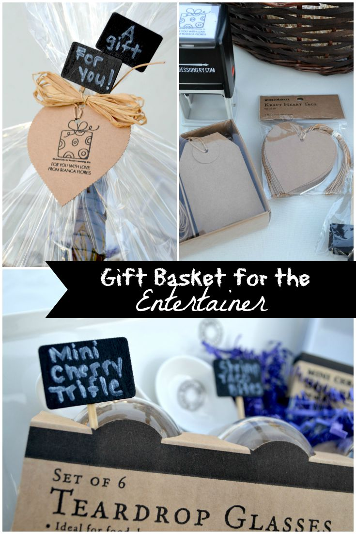 Expressionery Wraps Gift Basket for the Entertainer