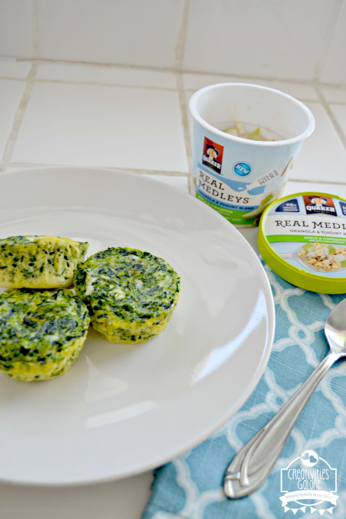 Breakfast with Quaker Real Medleys Yogurt Cups: Egg & Spinach Cup Recipe