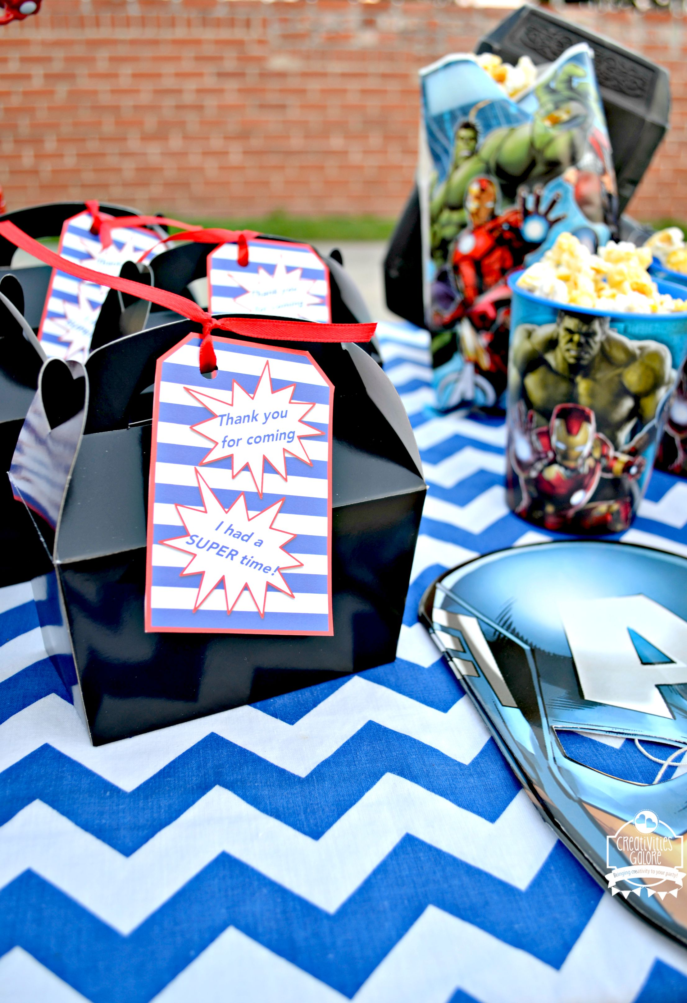 Avengers Party FREE Printable By Creativities Galore