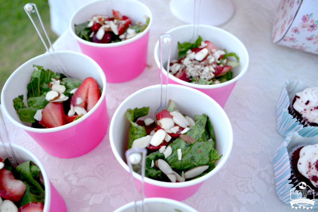 Tea Party Strawberry Almond Salad