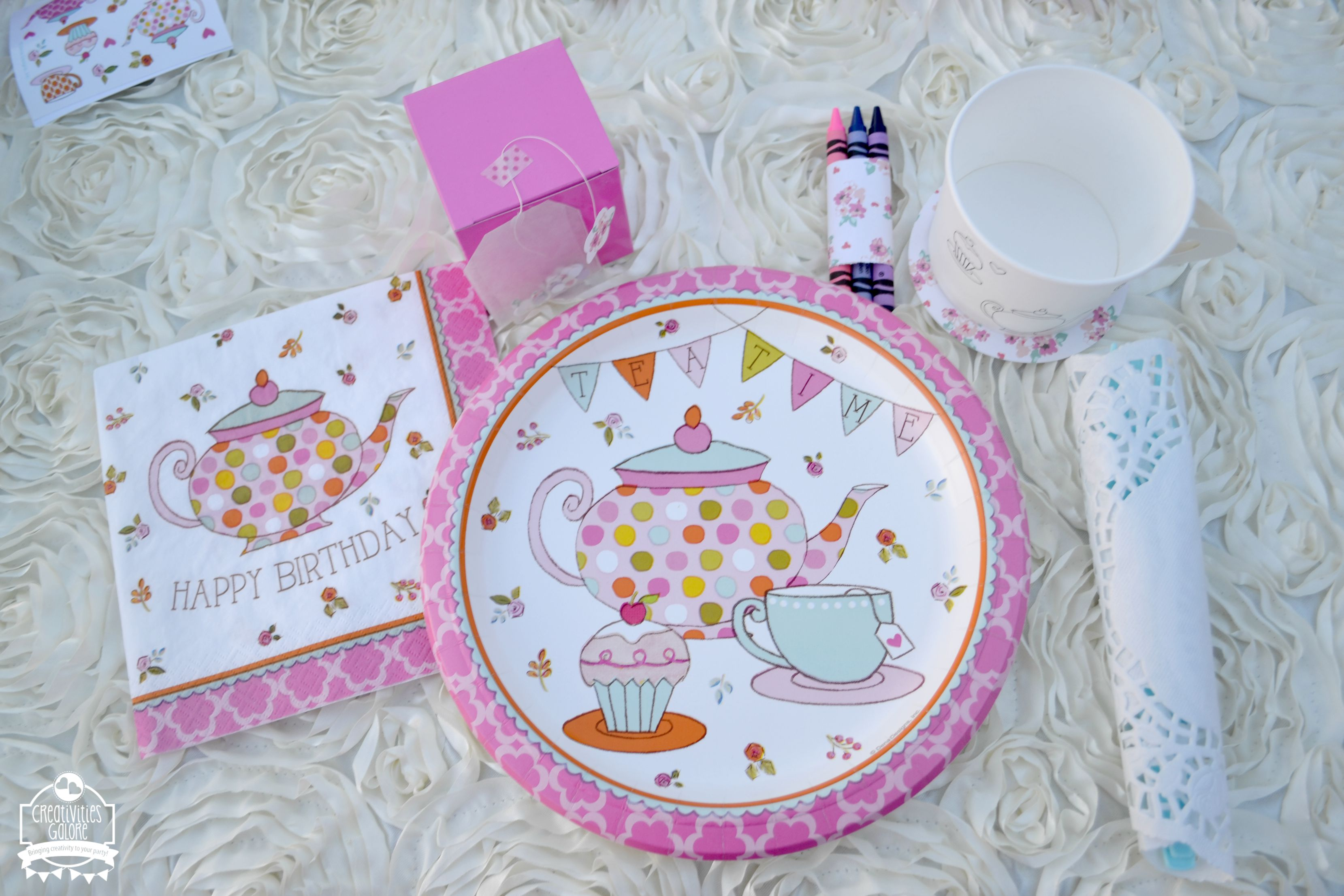 Kids tea party creativities galore for Party table setting
