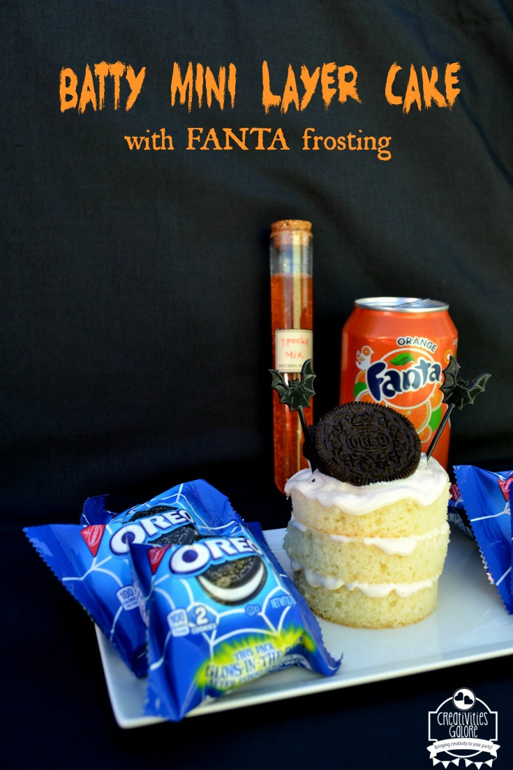 Batty Mini Layer Cake with Fanta Frosting