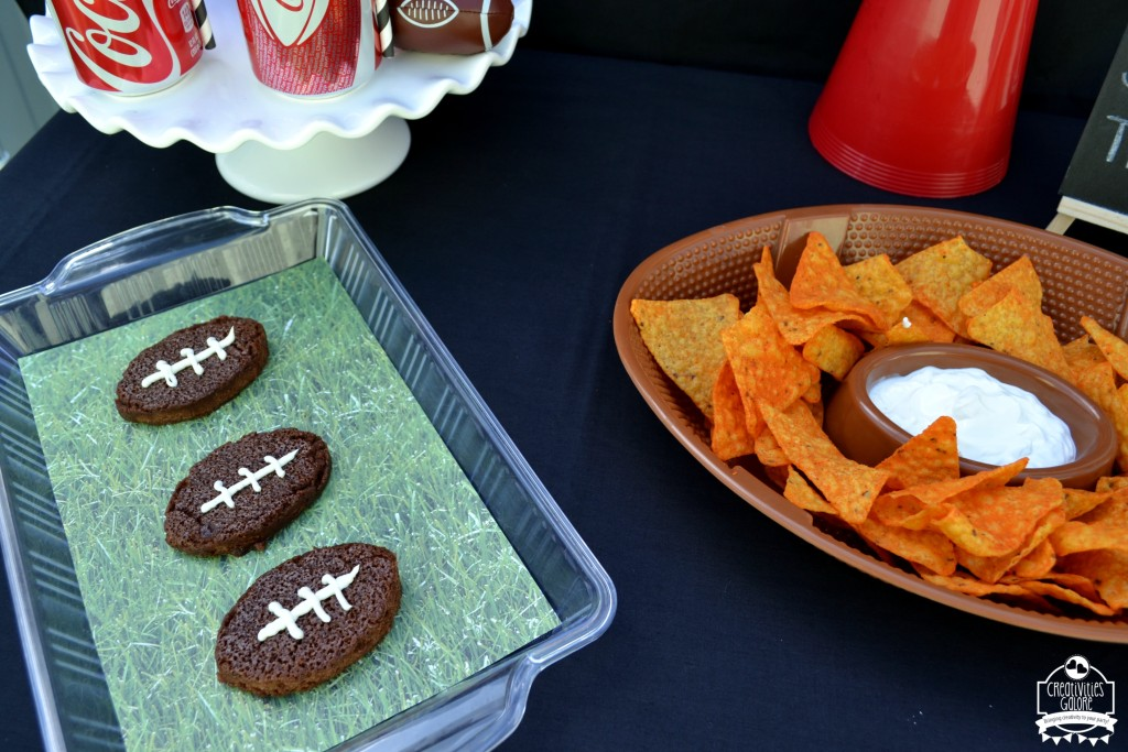 Football Brownies with Coca Cola 9
