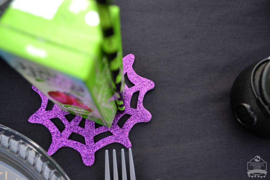 Halloween Tables spiderweb coasters