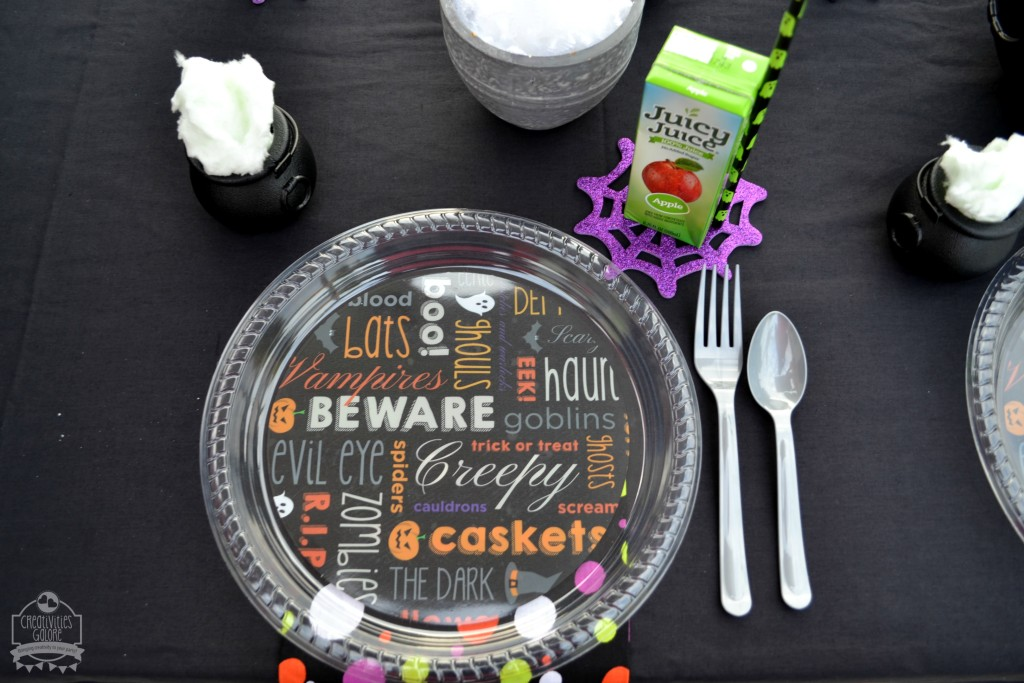 Halloween Table Place Setting