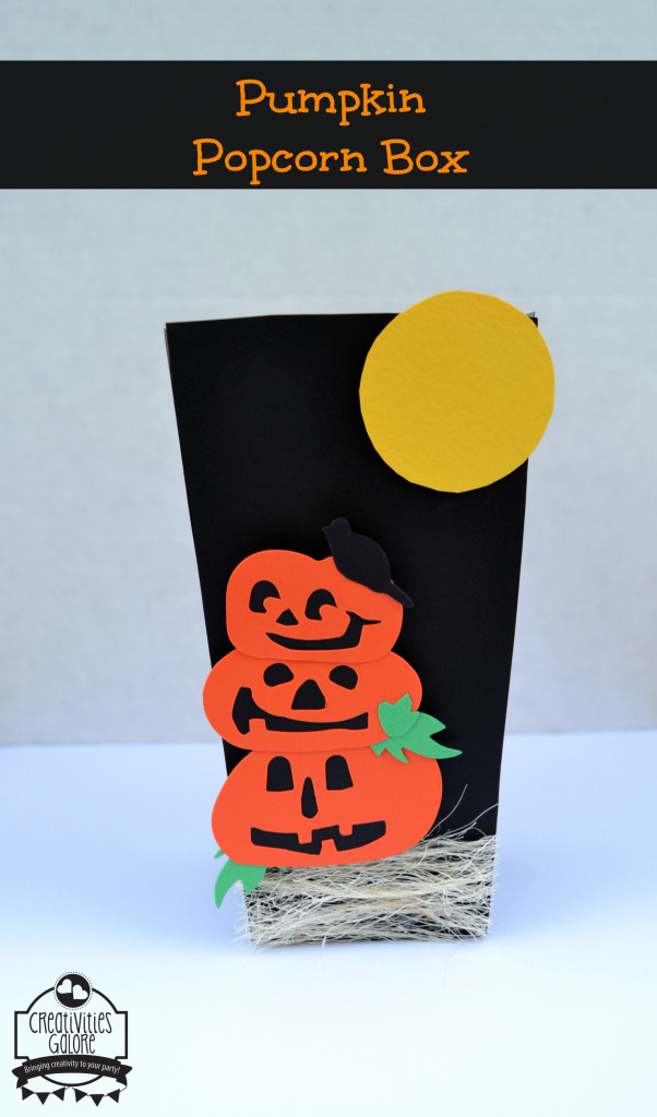 DIY Pumpkin Popcorn Box by Creativities Galore