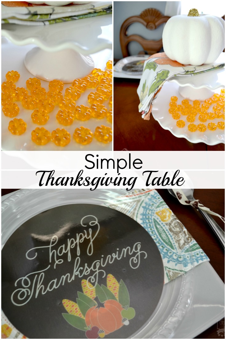 Simple Thanksgiving Table by Creativities Galore