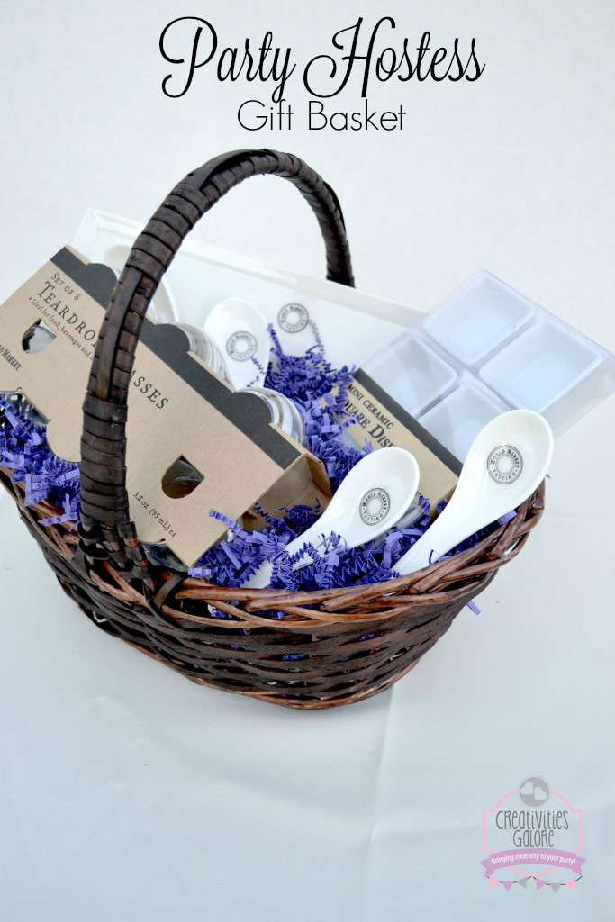 Linky Party Christmas Theme: Party Hostess Gift Basket