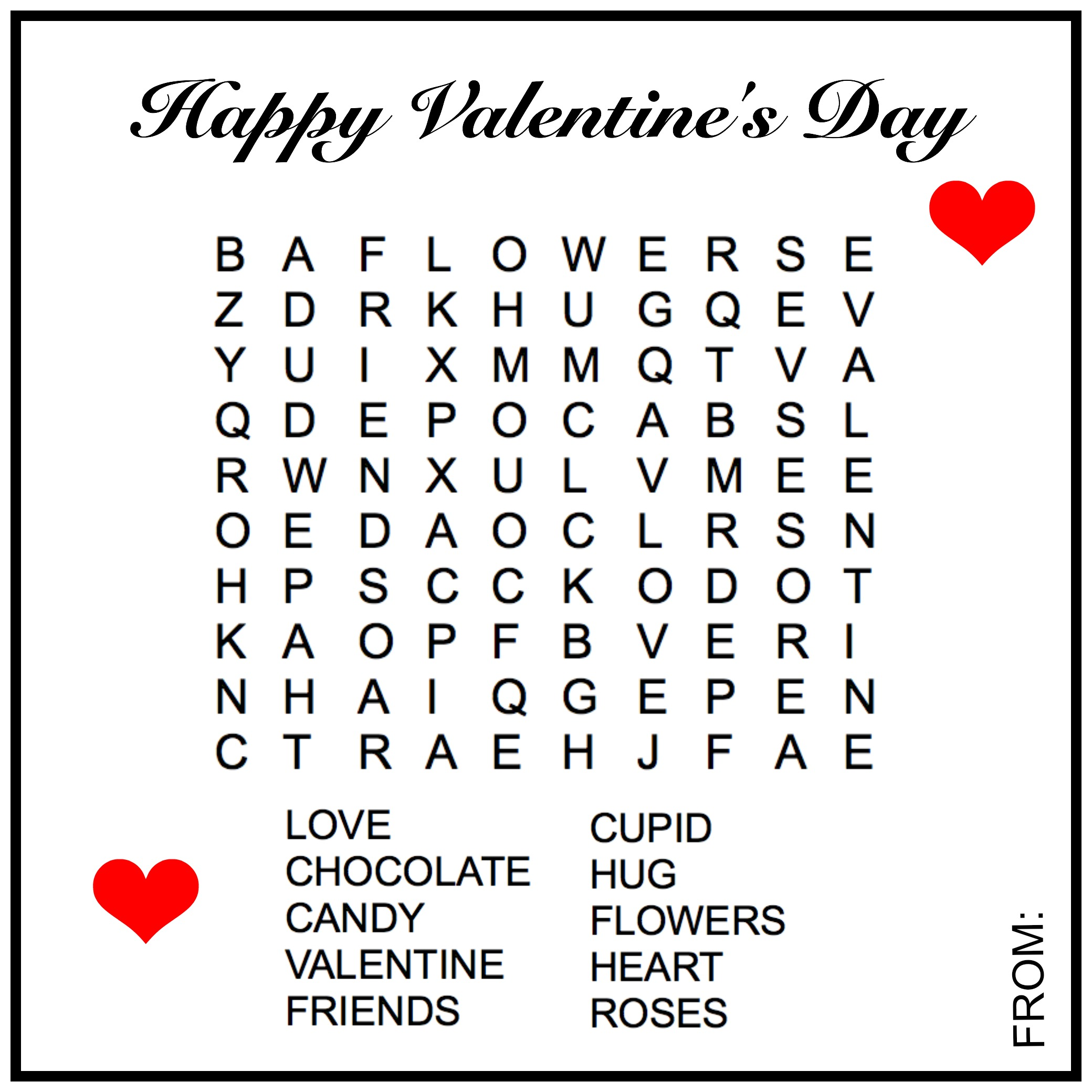Free Valentineu0027s Day Word Search By Creativities Galore: This Valentine  Word Search Is A Great