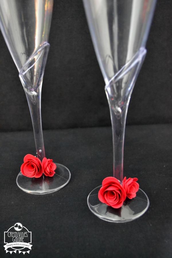 DIY Dressed Up Champagne Glasses