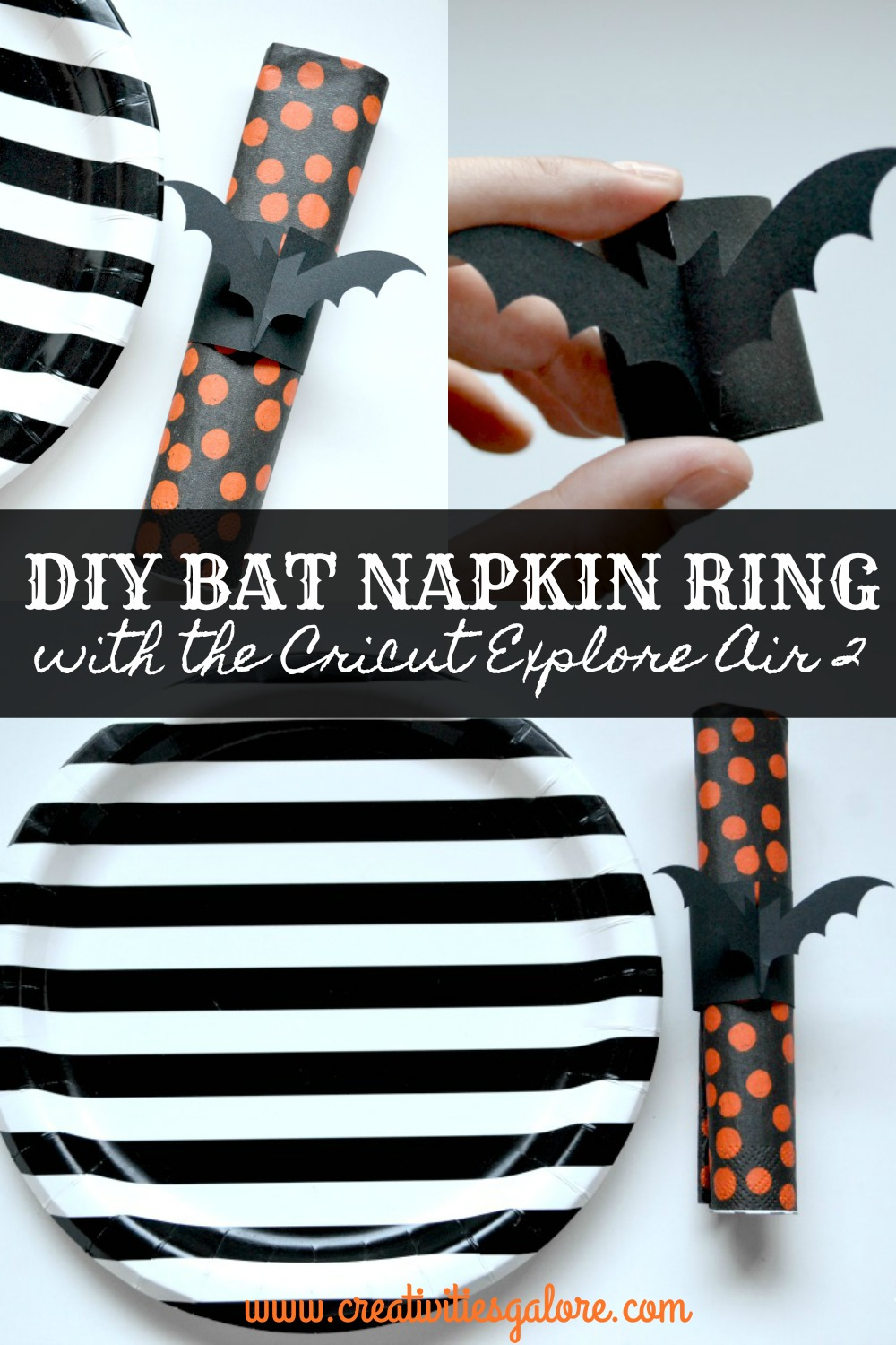 DIY Bat Napkin Ring