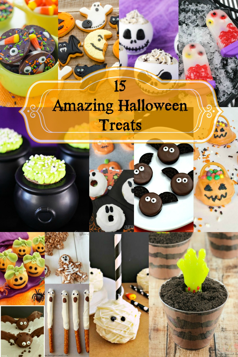 I have gathered 15 amazing Halloween treats that are sure to be a hit at your next Halloween party, they are non spooky and kids will enjoy the sweet treat.