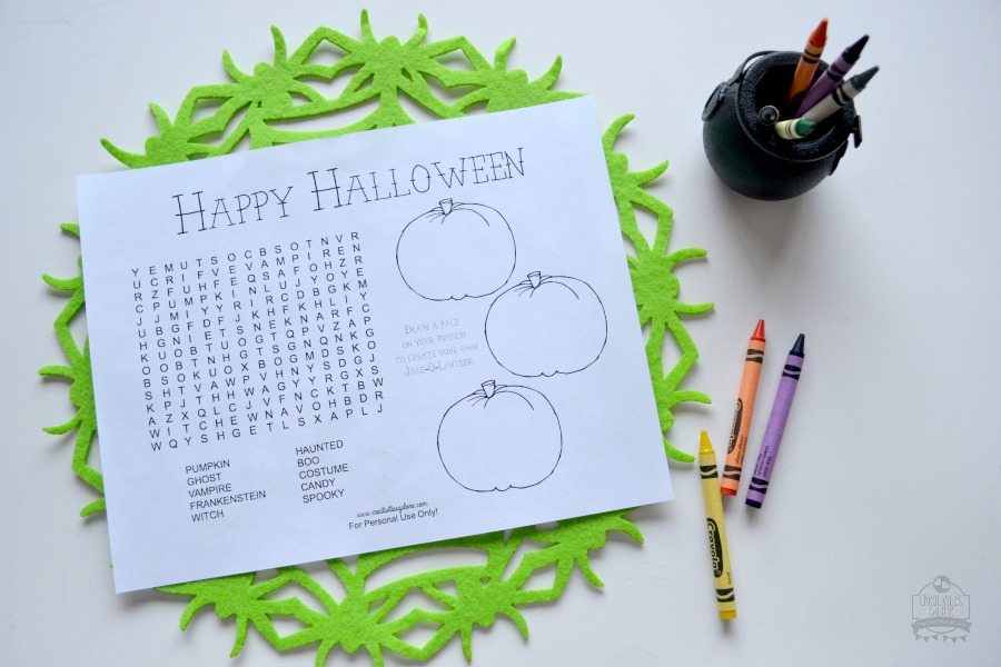 This halloween activity sheet is perfect to hand out at kids halloween parties, class parties, or just to your kids to keep them entertained.