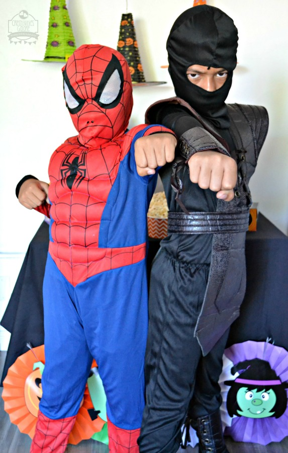 This year we ordered our sons Halloween costumes from Oriental Trading. They came in just in time so that they could use them at Halloween parties