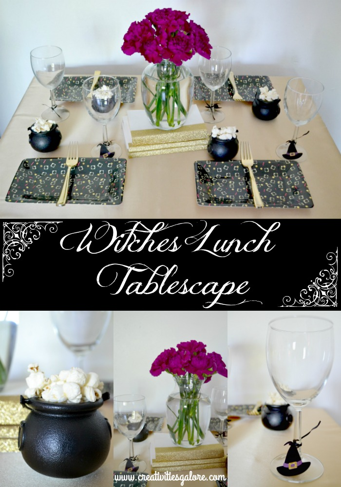 Invite your friends over for lunch and catch up on all things. Set up a witches lunch tablescape to make it even more special.