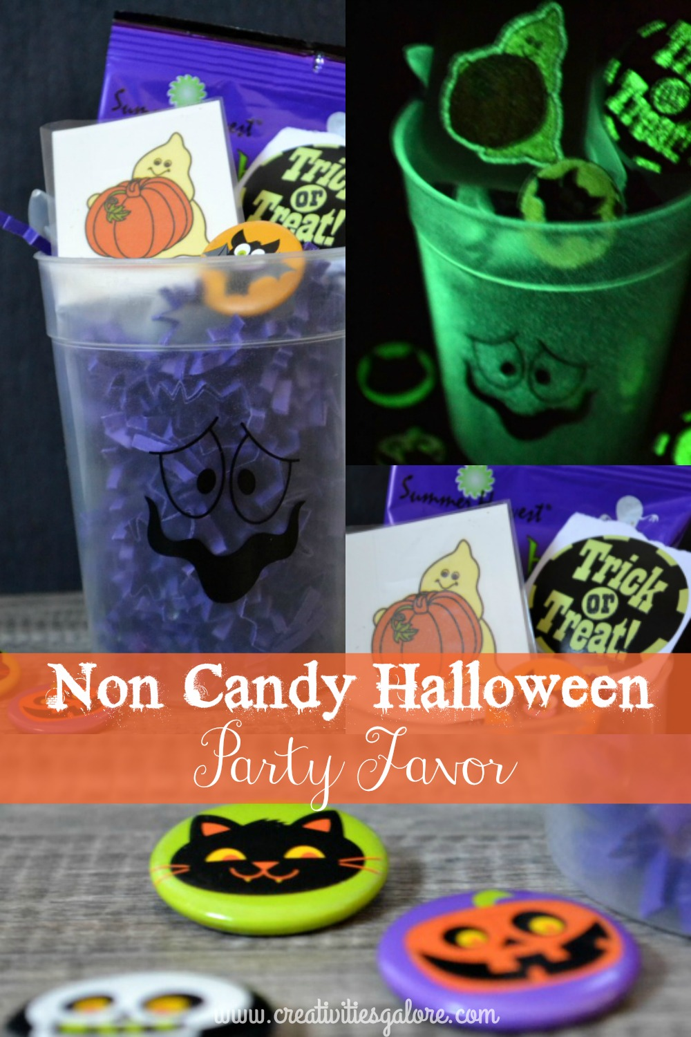If your kids can't take candy to pass out at their halloween school party no worries I have the solution a non candy Halloween party favor