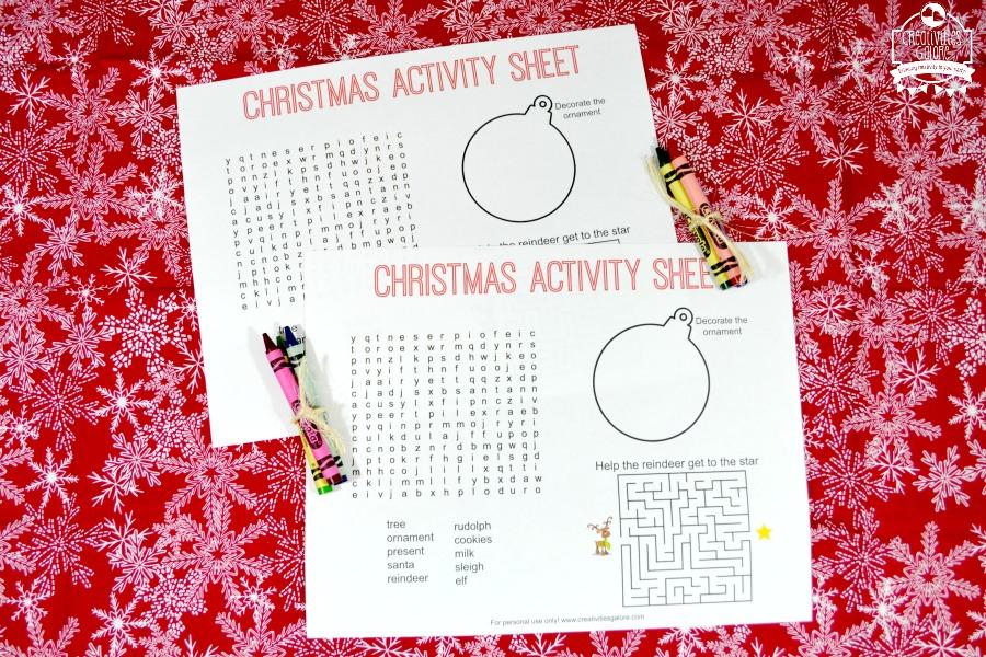 FREE Christmas Activity Sheet - Creativities Galore