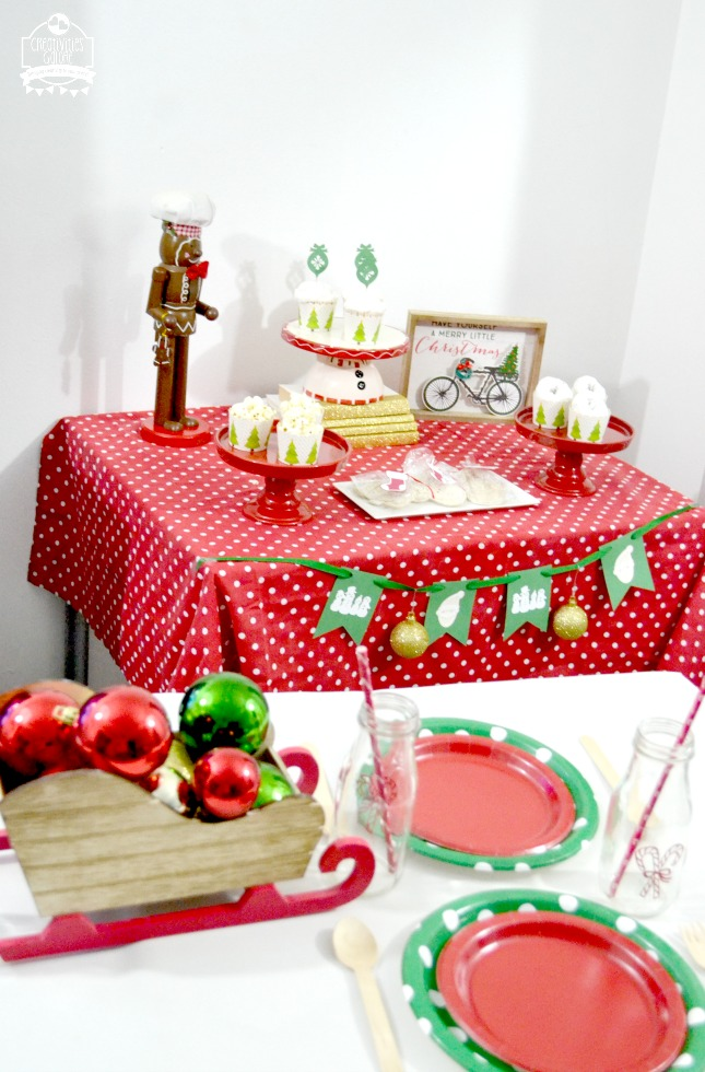 I am sharing how you can easily create a kids Christmas party with the help of Cricut. Your Cricut can help make a banner, cupcake toppers, tags, etc.