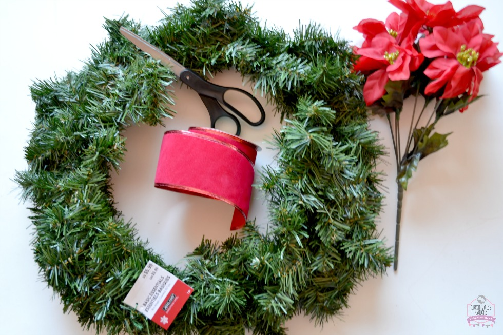 I am sharing a super easy and budget friendly DIY Christmas wreath to spruce up your home for the holidays. Only a handful of items are need for the project