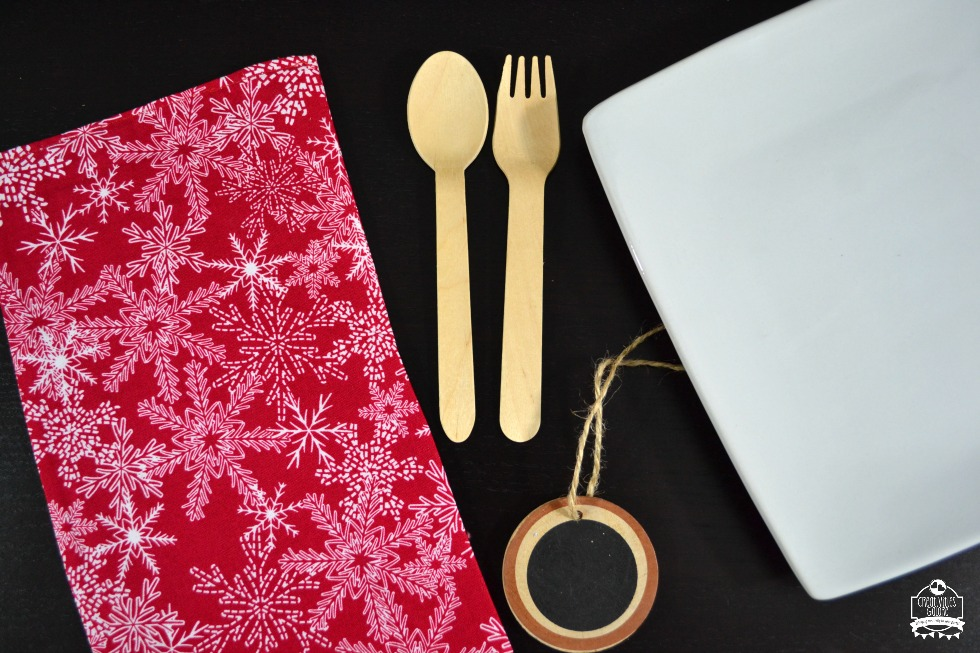 Rustic Inspired Christmas Place Setting