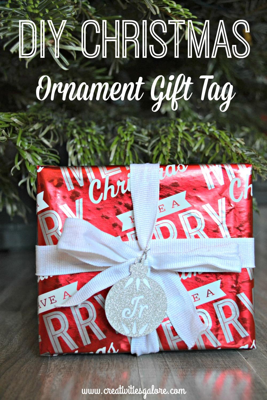 diy christmas ornament gift tag