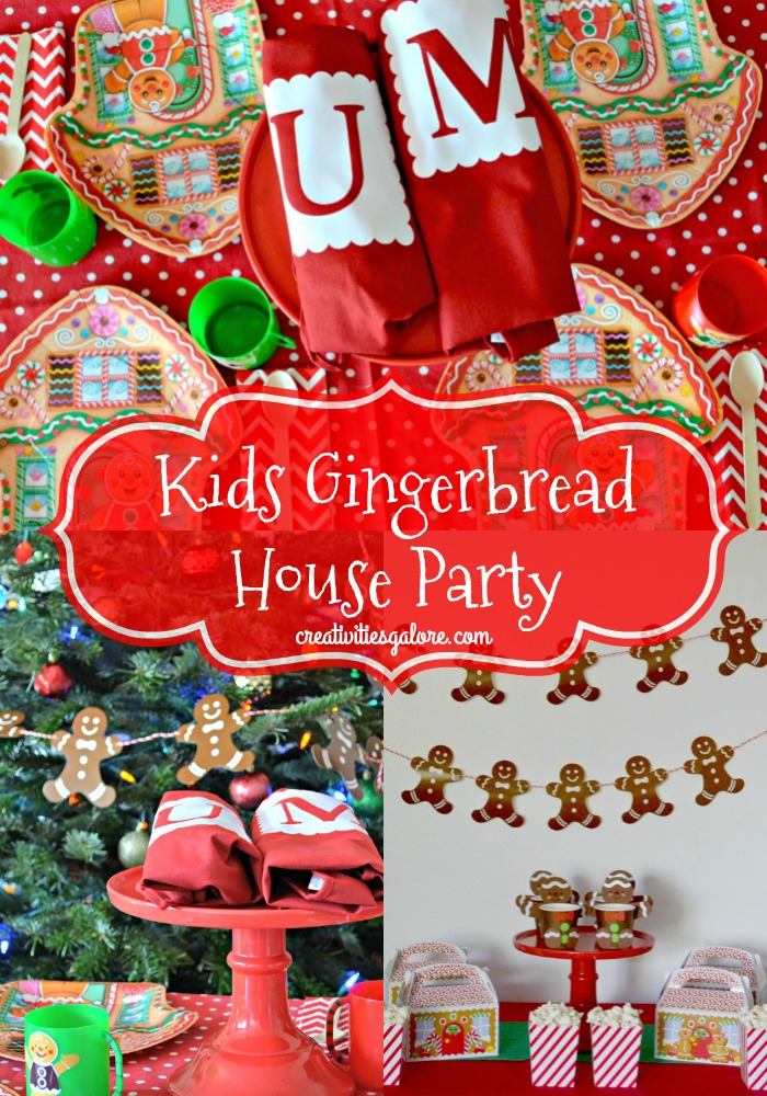 kids gingerbread house party ideas