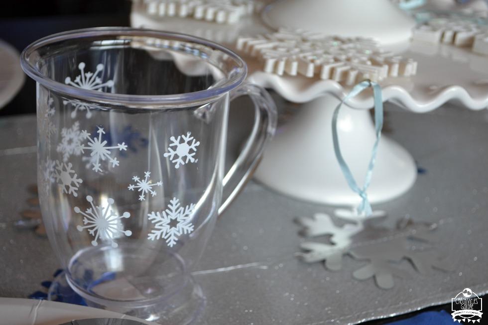 snowflake tablescape