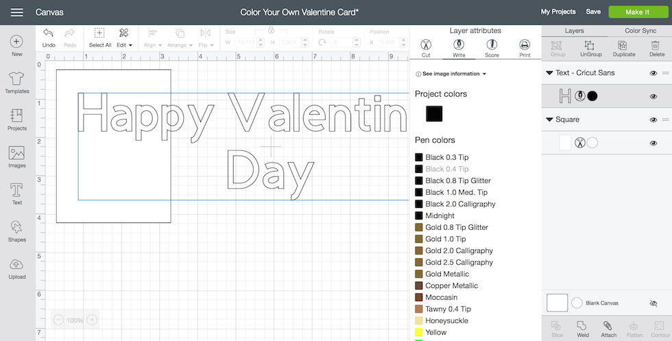 Want to learn how to make a color your own Valentine card? I show you how easy it is to make this color your own Valentine card with the Cricut Explore Air 2.