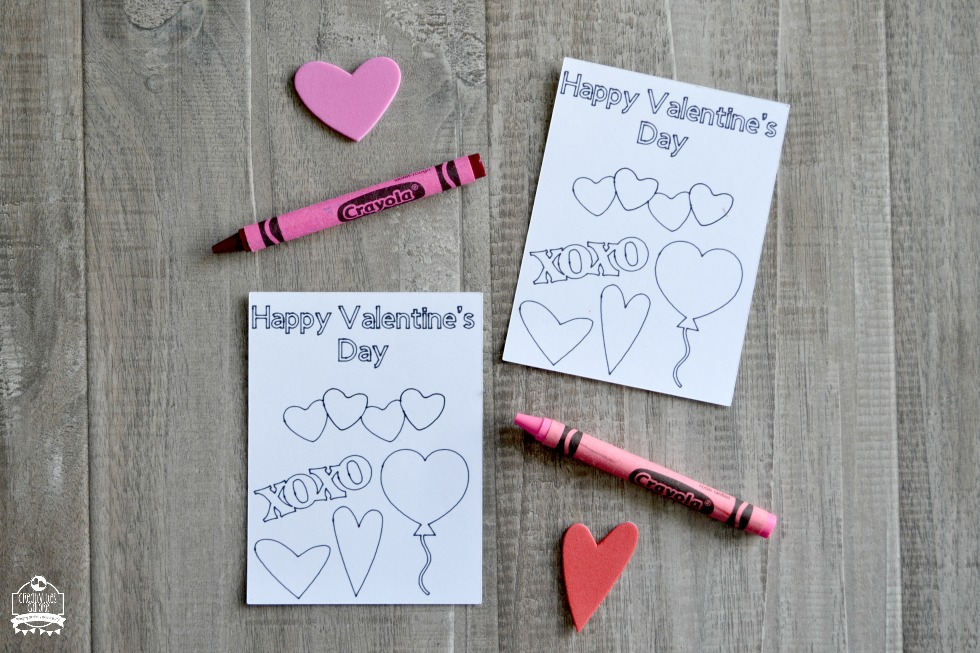 How to Make a Color Your Own Valentine Card