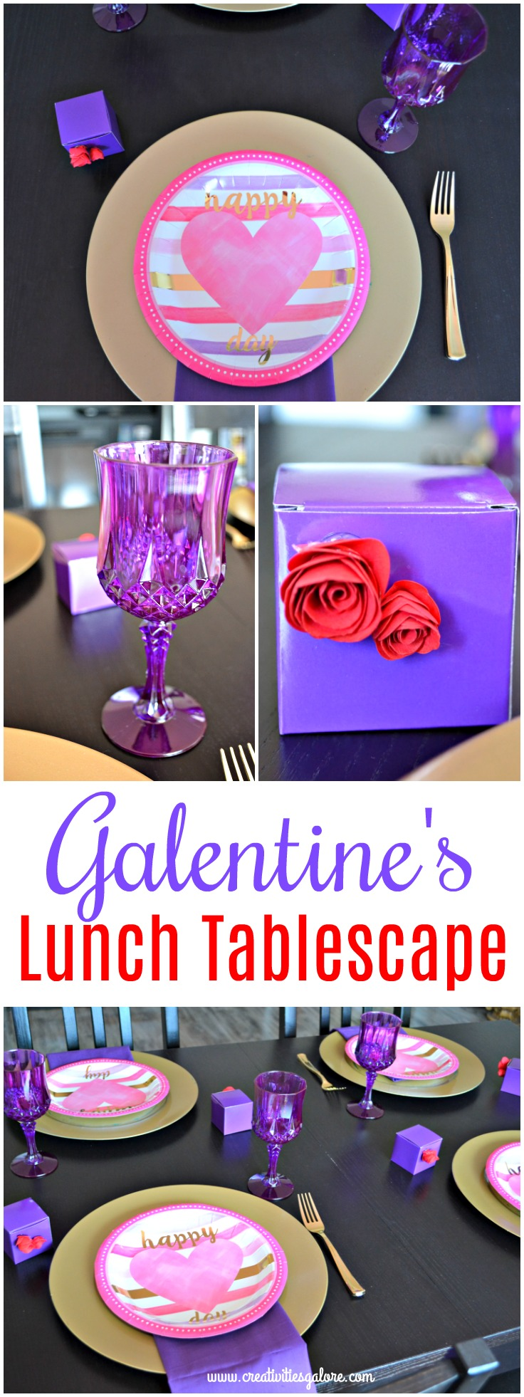 Galentine's lunch tablescape
