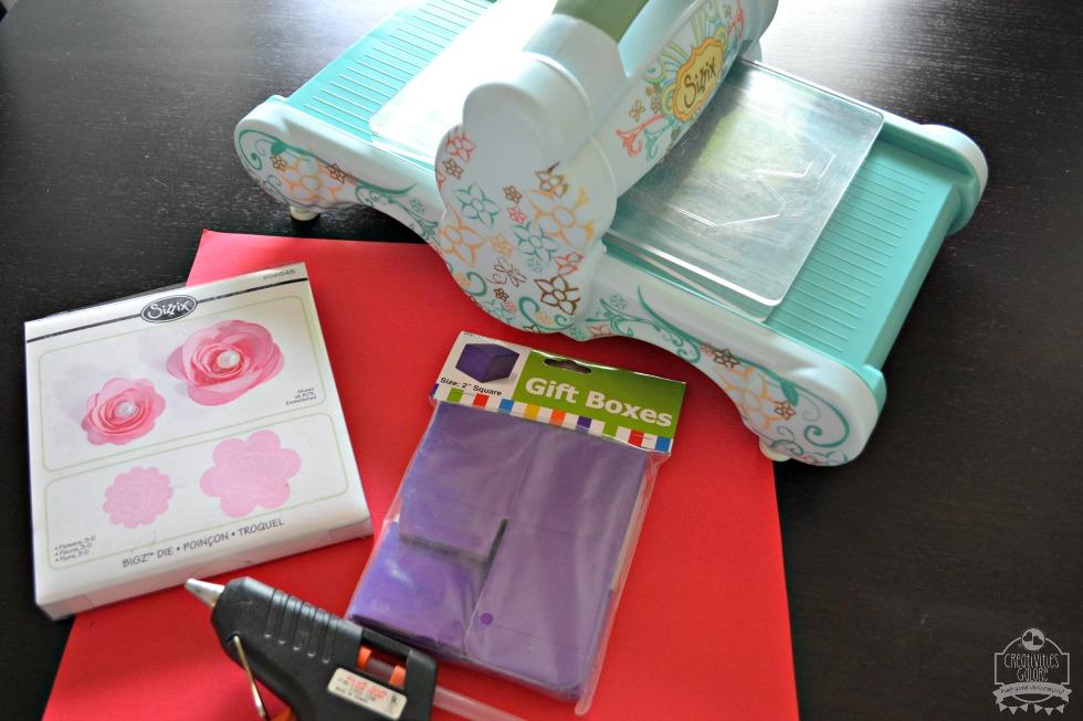 mini rose favor box