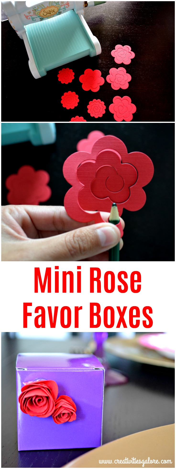 mini rose favor box