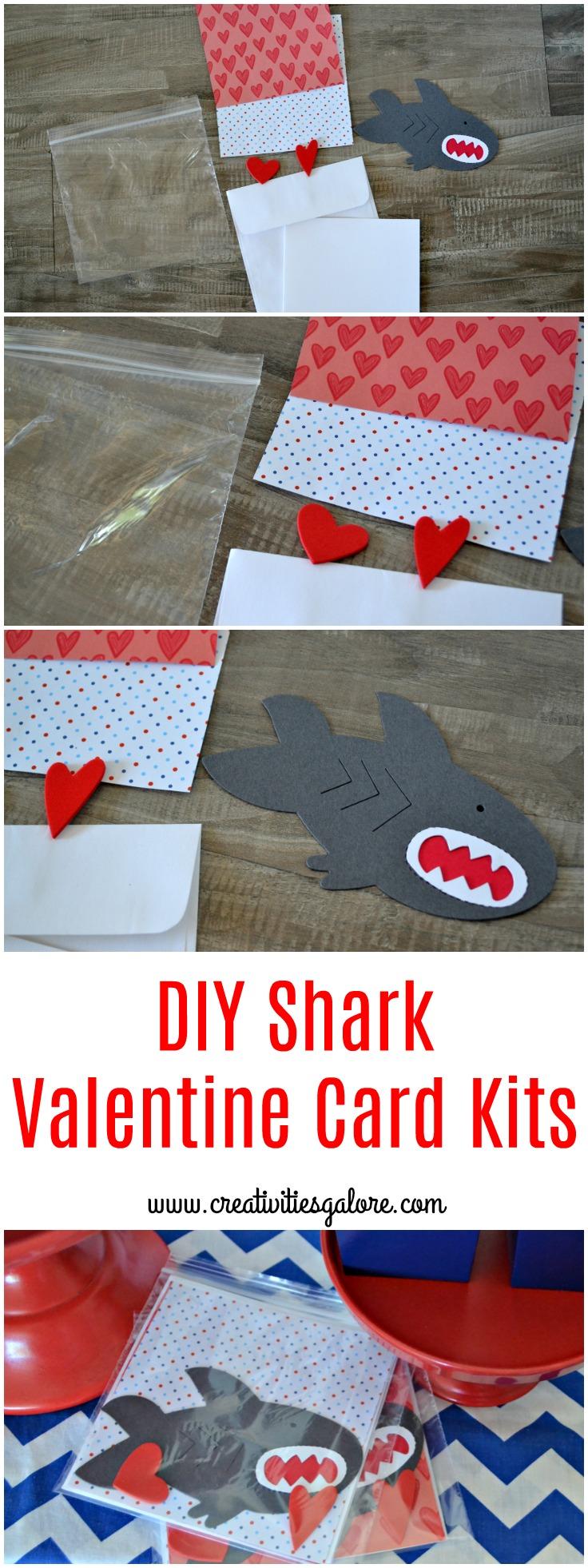 DIY Shark Valentine Card Kits