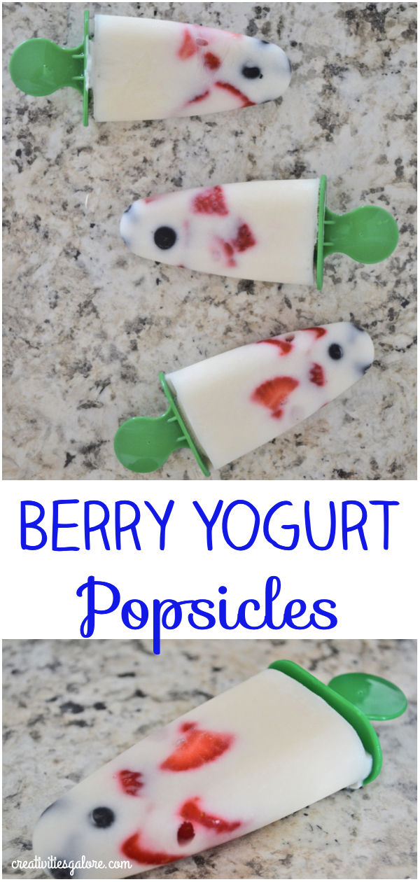 Berry Yogurt Popsicles