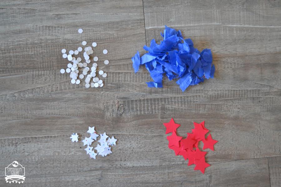 patriotic confetti push pop
