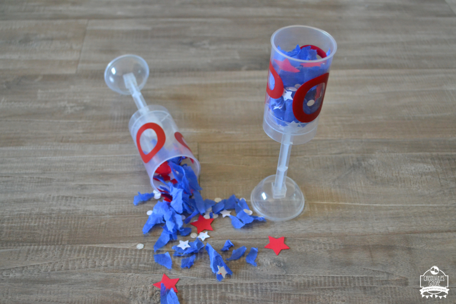 patriotic confetti push pop