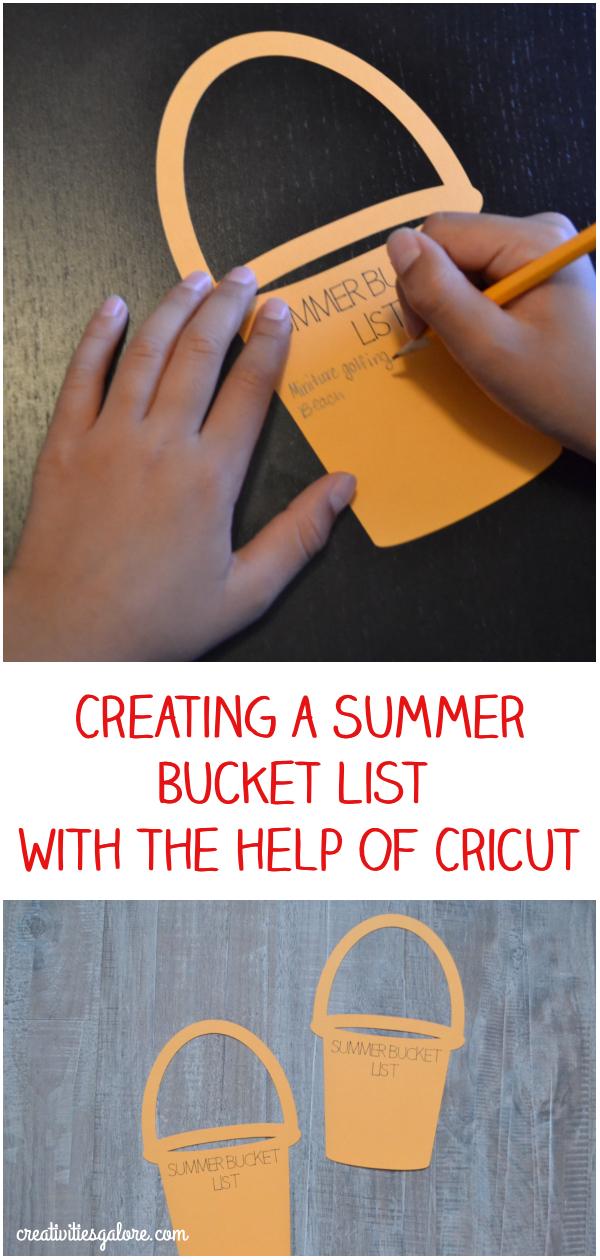Cricut summer bucket list