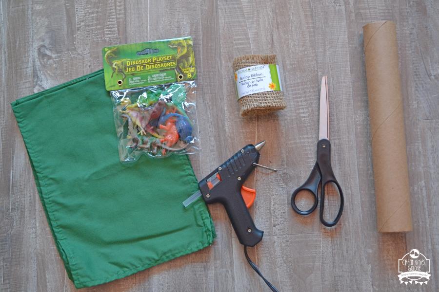 How to Make Dinosaur Burlap Napkin Rings