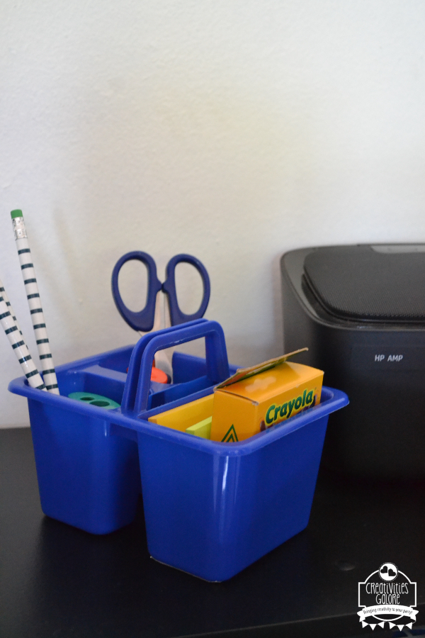 Homework Supplies Caddy