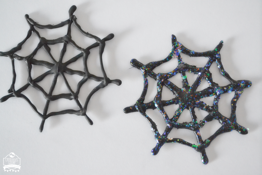 Spider Web Hot Glue Coasters