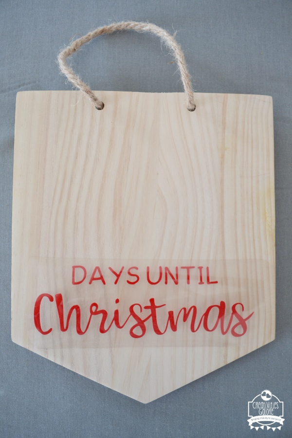 Countdown To Christmas Sign.Diy Christmas Countdown Sign With The Help Of Cricut Products