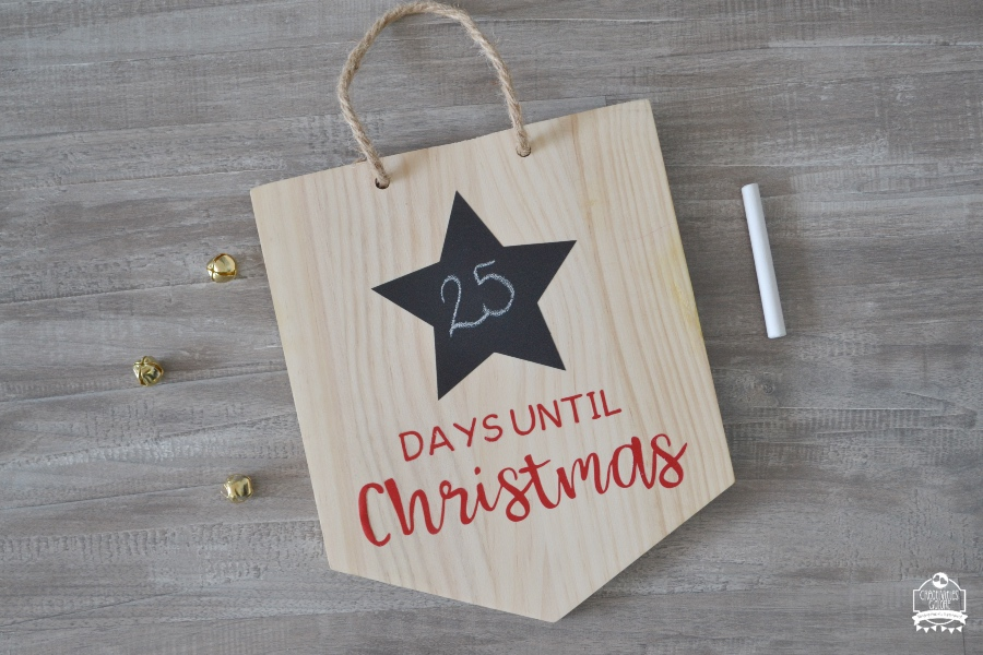 diy christmas countdown sign