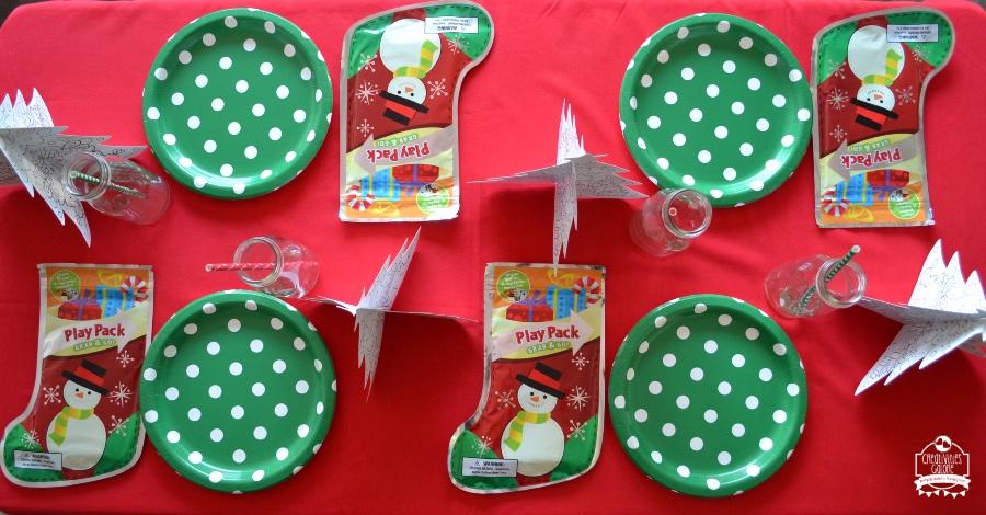 Kids Christmas Activity Table