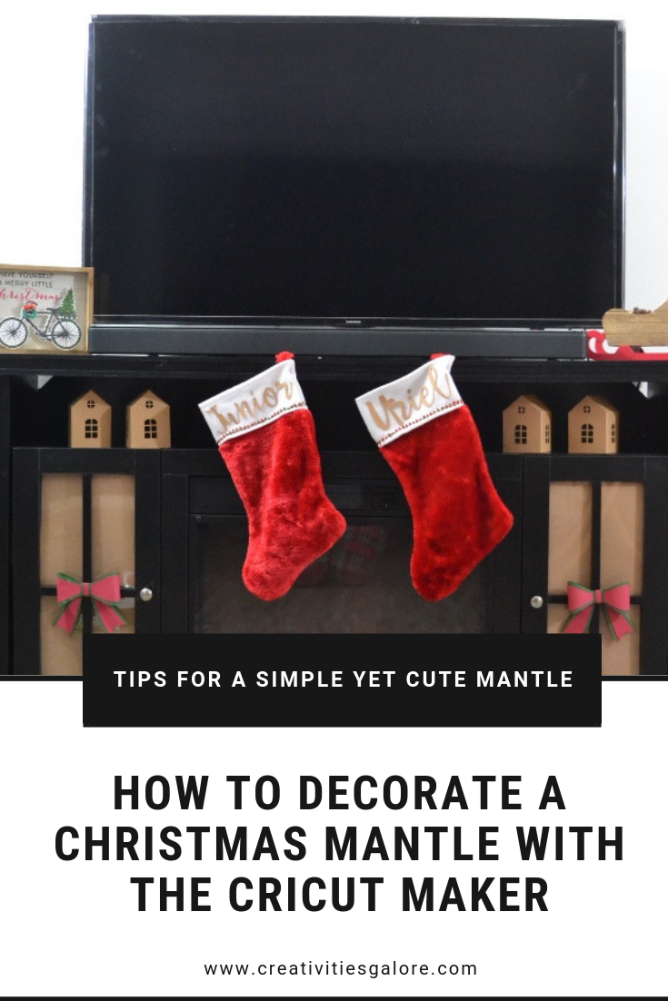 Do you like to decorate your mantle for the holidays? I have some easy projects that you can make with your Cricut Maker to decorate a Christmas mantle.