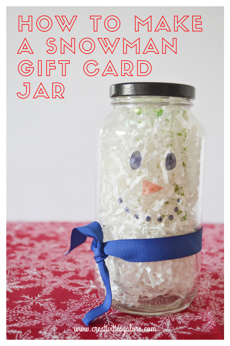 Snowman Gift Card Jar